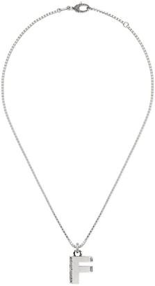 "Gucci Silver ""F"" letter necklace"