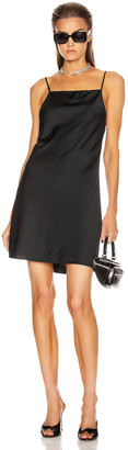 Alexander Wang Light Wash & Go Mini Cami Dress in Black | FWRD
