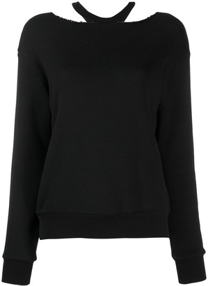 Unravel Project loose-fit cut-out jumper