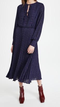 Jason Wu Pleated Dress with Tie Detail