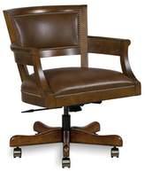 Fairfield Chair Reilly Task Chair Fairfield Chair Body Fabric: 9171 Steele, Frame Color: Hazelnut, Nailhead Detail: Black Nickel