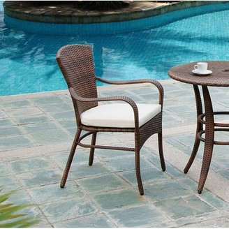 Panama Jack Key Biscayne Stacking Patio Dining Chair with Cushion Outdoor Color: Standard