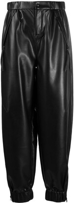 Áeron Tapered Faux Leather Trousers