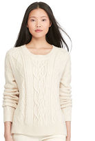 Polo Ralph Lauren Aran-Knit Crewneck Sweater