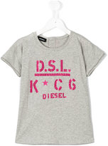 Diesel logo print T-shirt - kids - Cotton/Polyester - 6 yrs