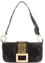 Roger Vivier Embellished Satin Shoulder Bag