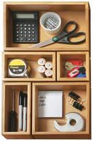Asstd National Brand Seville Classics 5-Piece Bamboo Storage Box Drawer Organizer Set