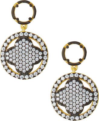 Freida Rothman Front-Facing Clover Drop Earrings