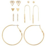 BP Women's 6-Pack Hoop & Stud Earrings