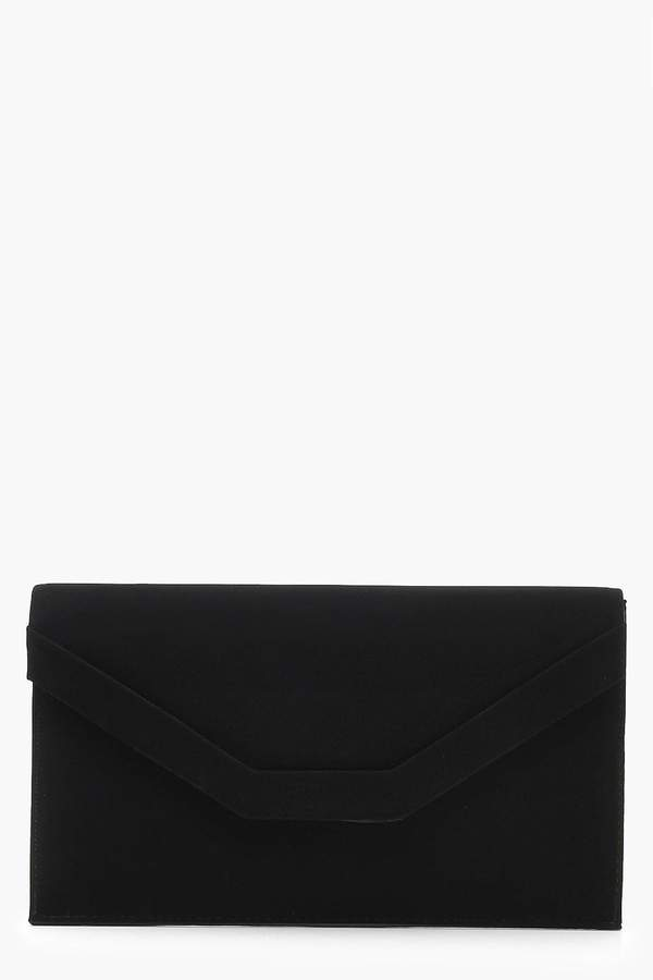 boohoo Embossed Envelope Clutch & Chain