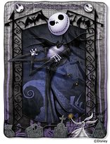 "Disney The Nightmare Before Christmas, ""Jack's Graveyard"" 46-Inch by 60-inch Micro Raschel Throw - by The Northwest Company"