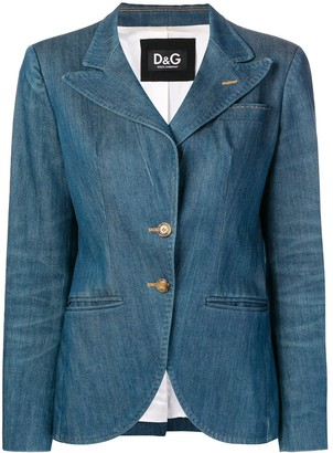 Dolce & Gabbana Pre-Owned 2000's fitted denim blazer