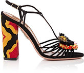 Aquazzura Women's Samba Suede T-Strap Sandals