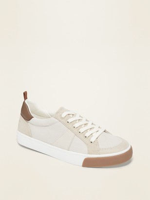 Old Navy Canvas Faux-Suede Trim Sneakers for Boy