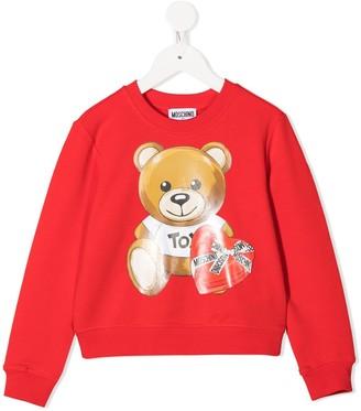MOSCHINO BAMBINO Teddy Bear Print Sweatshirt