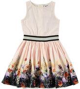 Molo Carli Hiding Away Sleeveless Poplin Dress, Pink, Size 2T-12
