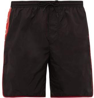 Gucci Logo-stripe Swim Shorts - Mens - Black