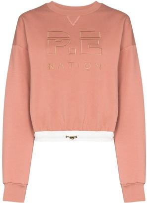 P.E Nation Block Pass logo-embroidered sweatshirt
