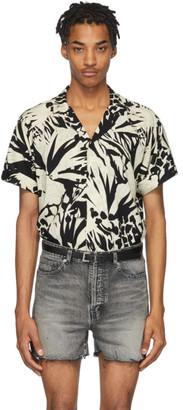 Saint Laurent Black and Off-White Jungle Shirt