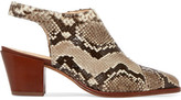 Alexandre Birman Jaynes Python Slingback Ankle Boots - Snake print