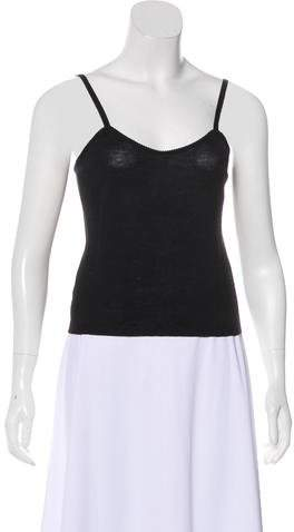 John Galliano Wool Sleeveless Top