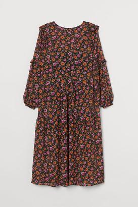 H&M H&M+ Ruffle-trimmed Dress