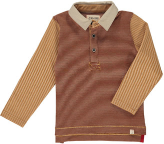 Me & Henry Boy's Striped Long-Sleeve Rugby Polo Shirt, Size 3T-8