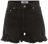 MSGM High Rise Ruffle Shorts