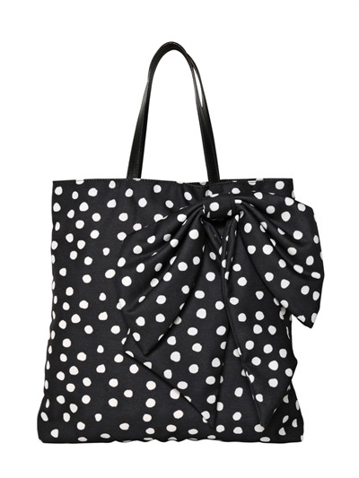 RED Valentino Dotted Canvas Tote Bag