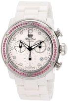 Glam Rock Women's GR50121 Aqua Rock Chronograph White Dial Ceramic Watch
