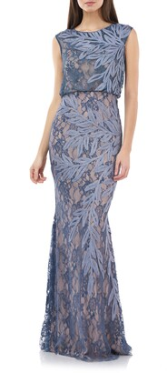 JS Collections Soutache Lace Blouson Gown