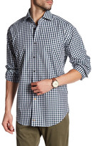 Thomas Dean Check Print Long Sleeve Shirt
