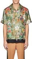 Gucci Men's Floral Silk Bowling Shirt