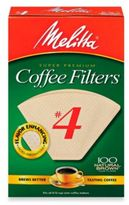 Melitta 100-Count Number 4 Natural Brown Super Premium Coffee Filters