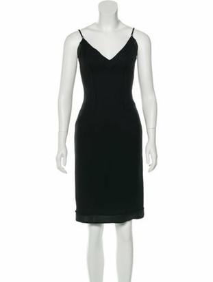 Prada Wool Knee-Length Dress Black