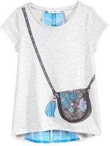 Jessica Simpson Purse-Graphic T-Shirt, Big Girls (7-16)