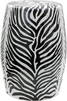 Oriental Furniture Zebra Leaf Porcelain Garden Stool, 18-Inch