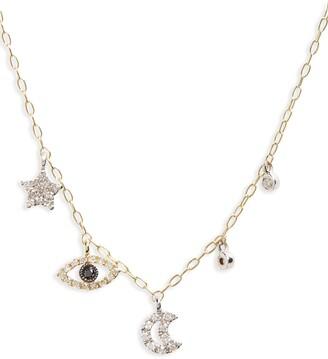 Meira T Diamond Charm Necklace