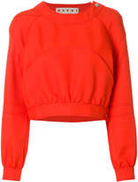 Marni cropped pocket detail sweatshirt