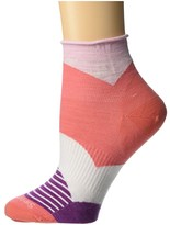 Smartwool Color Block Mini Boot Sock (Bright Coral) Women's Crew Cut Socks Shoes