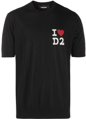 DSQUARED2 Logo Print Knitted Top