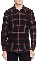 The Kooples Heavy Seersucker Check Slim Fit Button Down Shirt