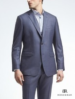 Banana Republic Standard Monogram Bright Blue Wool Suit Jacket