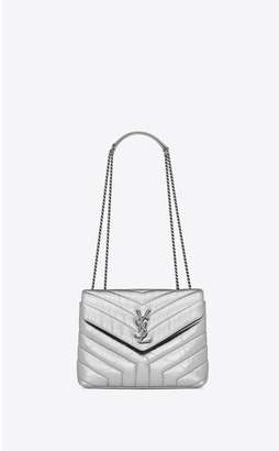 Saint Laurent Loulou Small In Matelasse Y Metallic Leather