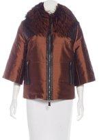 Andrew Gn Fox Fur-Trimmed Zip-Up Jacket