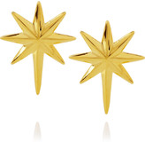 Eddie Borgo Gold-plated Northern star earrings