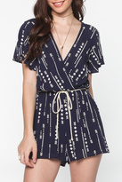 Everly Indigo Evening Romper
