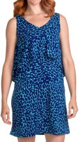 Lilla P Tiered Tank Dress - Printed Jersey, Sleeveless (For Women)