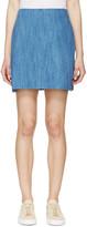 A.P.C. Indigo Denim A-Line Day Skirt