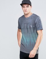 Jack and Jones T-shirt with Crew Neck and Color Fade Print